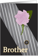 Brother Will You Walk Me Down the Aisle Peony and Tie card