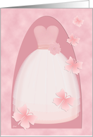 Quinceanera in Pink with Butterflies card