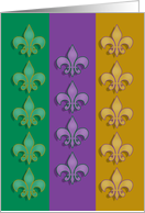 Mardi Gras Fleur-de-lis Party Invitations card