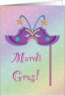 Mardi Gras Party Invitation Mask card