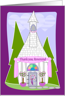 Thank You Reverend Wedding card