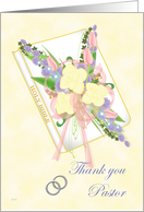 Pastor Thank You (Silver Rings) card