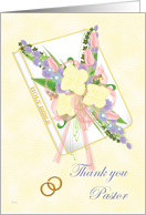 Pastor Thank You (Gold Rings) card