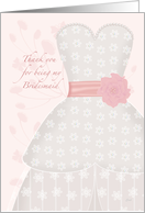 Lace Shadow Thank You Bridesmaid card