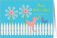 Mother's Day from Son Birds & Flowers card