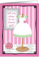 Dress Shop Be My Flower Girl card