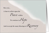 Recovery Ocean & Sand One Year card