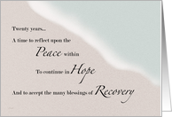 Recovery Ocean & Sand 20 Years card