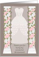 Rose Coulmn Bridesmaid Thank You card
