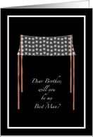 Chuppah Brother Best Man Invite card