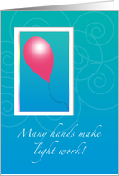 One Balloon Thank You Moving Help card