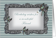 Butterfly Mirror Friend Birthday card