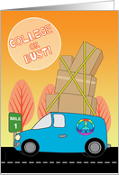 Away to College in a Blue Van on the Road to University card