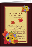 Thanksgiving Remembrance of Loved One card