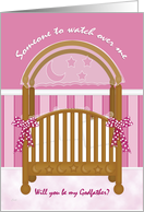 Be My Godfather Baby Girl card