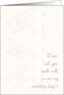 Walk with Me Wedding Day Dad Aisle card