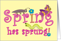 Spring has Sprung Whimsical Note Card