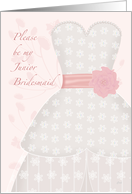 Be My Junior Bridesmaid Lace Pink Dress card