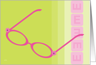 Congratulations New Eyeglasses Pink Girlie card
