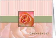 Engagement Announcement, Rose Contemporary in Pink and Green card
