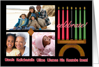 Celebrate Kwanzaa Photo Card with Kinara and Seven Principles card