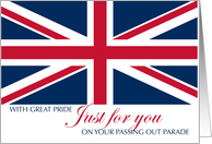 Congratulations Army Passing Out Parade UK United Kingdom Flag card