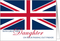 Congratulations Daughter Army Passing Out Parade with UK Flag card