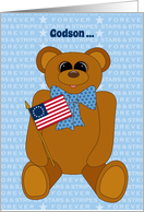 Godson First July 4th Stars Stripes Forever with Betsy Ross Flag card