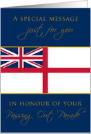 Navy Passing Out Parade Congratulations British White Ensign Flag card