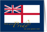Navy Passing Out Parade Congratulations Anchor British White Ensign card