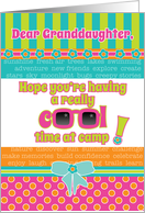 Granddaughter Summer Camp Thinking About You Fun Colors Sunglasses card