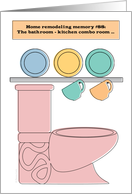Housewarming Party Invitation Renovated Remodeled Home Pink Toilet card