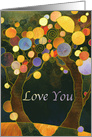 Rustic Country Love Trees I Love You Card