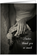 Thank You, Pastor, for Marrying Us card