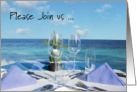 Scenic Ocean After Wedding Breakfast Invitation card