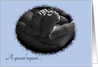 Hands and Feet Special Request Please be our Son's Godparents Invitation card