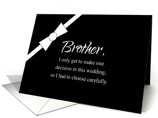 Formal Bowtie Brother Humorous Best Man Invitation card (458575)