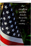 Thank you on Veterans Day, American Flag card
