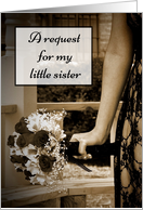 Little Sister Will You Be My Bridesmaid card