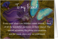 Butterfly Happy Birthday to My Friend card