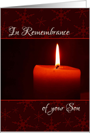 In Remembrance of your Son at Christmas card