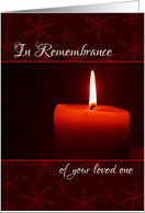 In Remembrance of your loved one at Christmas card