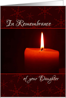 In Remembrance of your Daughter at Christmas card