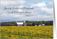 Farmhouse - Thinking of you encouragement card