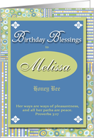 Birthday Blessings - Melissa card