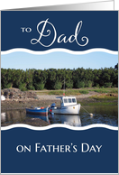 From Daughter and Son-in-Law on Father's Day - Fishing Boat card