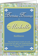 Birthday Blessings - Michelle card