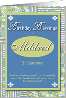 Birthday Blessings - Mildred card