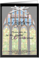 Baptism Invitation - Stain Glass card