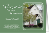 Pastor Retirement Congratulations - Custom name card